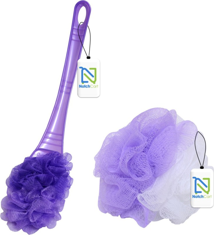 Notchcart Loofah(Pack of 2, Peach)