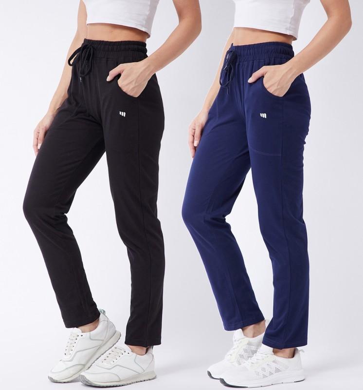 MODEVE Solid Women Dark Blue, Black Track Pants
