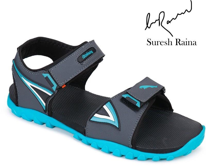 density Men Black, Blue Sandals