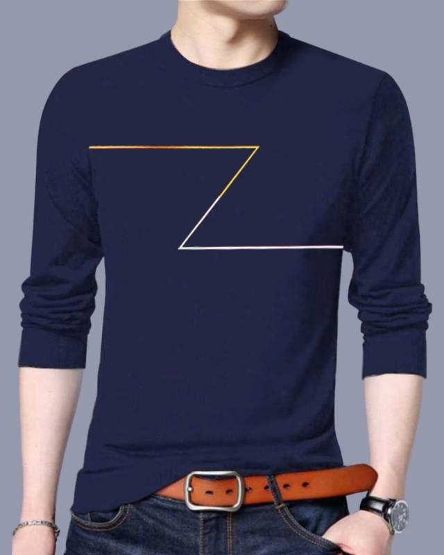 FastColors Solid Men Round Neck Dark Blue T-Shirt