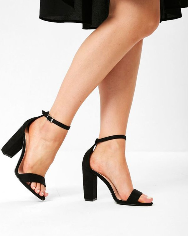 SHOFIEE Women Black Heels