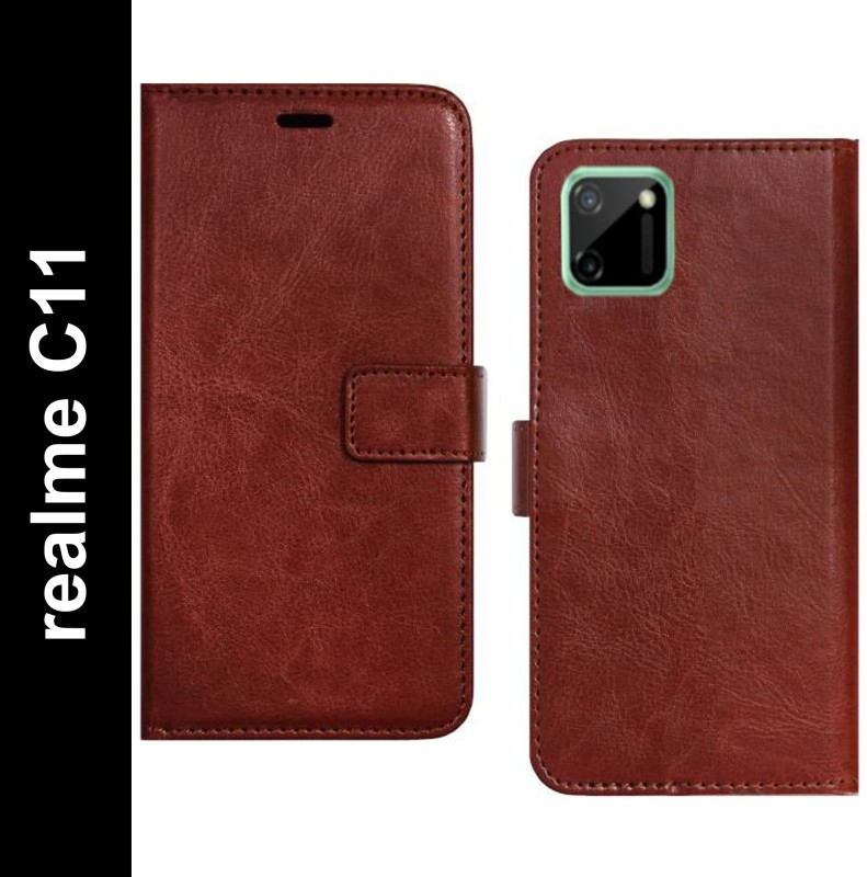 Spicesun Back Cover for Realme C11(Brown, Dual Protection)