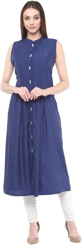 Bhama Couture Printed Women's A-line Kurta(Blue)