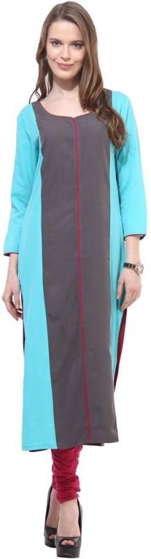 La Firangi Women's Solid Straight Kurta(Multicolor)
