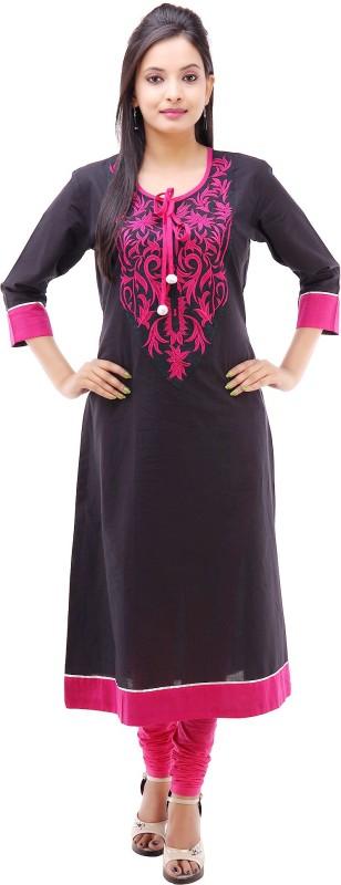 kyaara-embroidered-womens-anarkali-kurtablack-pink