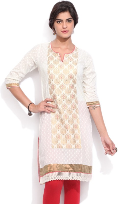 Rangriti Solid Women's Straight Kurta(Multicolor)