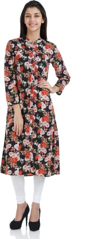 Bhama Couture Floral Print Women's A-line Kurta(Multicolor)