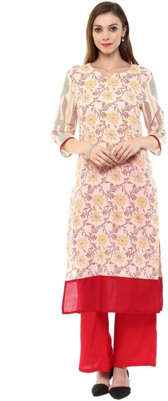 Jaipur Kurti Women Printed Straight Kurta(Multicolor)