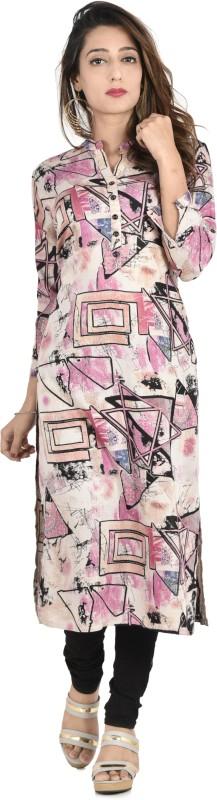 Style N Shades Printed Women's Straight Kurta(Multicolor)