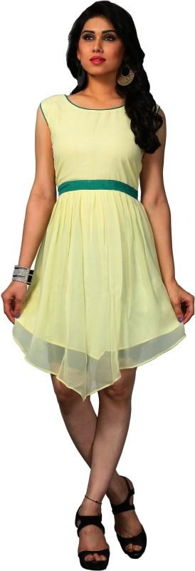 Palav Designer Self Design Women Kurti(Yellow)