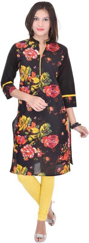 Shop Rajasthan Casual Floral Print Women's Kurti(Multicolor)