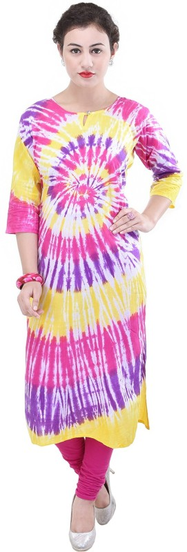 Baalaa Casual Printed Women Kurti(Multicolor)
