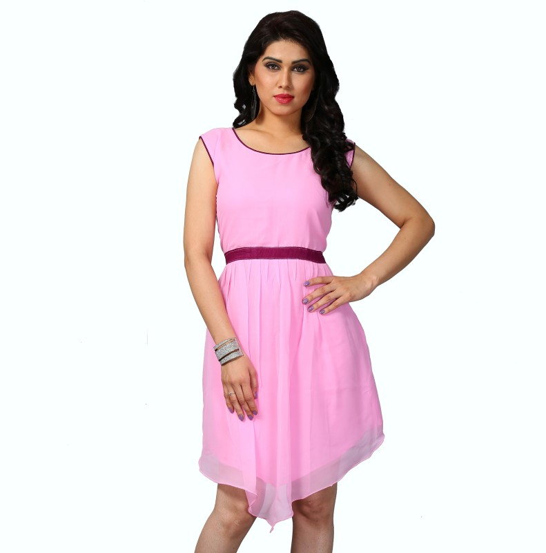 Palav Designer Casual Self Design Women Kurti(Pink)