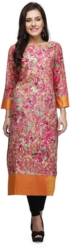 PRINTEMPS Casual Printed Women's Kurti(Multicolor)