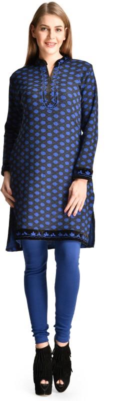 Christy World Casual Solid Womens Maternity Wear Kurti(Blue)