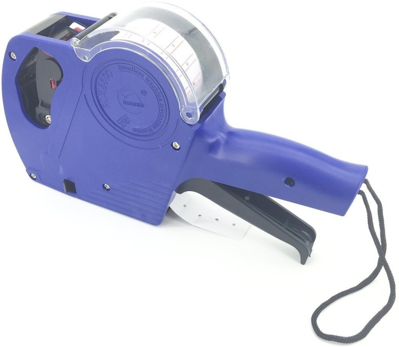 NEXA Price Labeller MX5500 Rate Printer Label Gun 8 Digits 1pc (Blue) Label Stamping Machine(Semi Automatic)