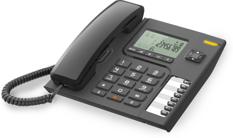 Alcatel T-76 Corded Landline Phone(Black)