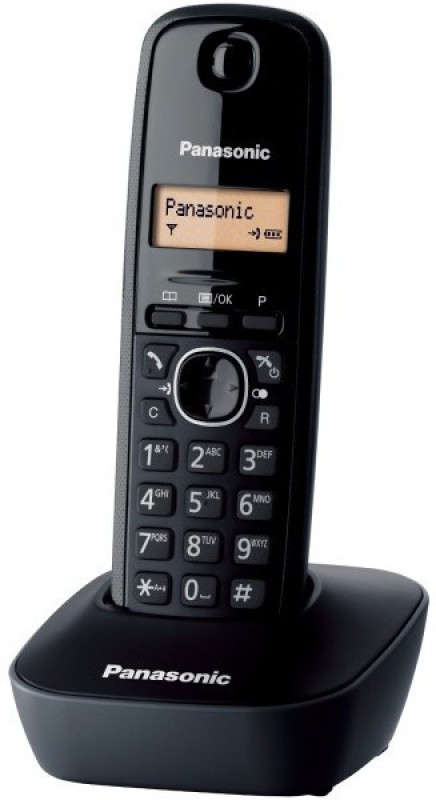 Panasonic KX-TG1611 Cordless Landline Phone(Black)