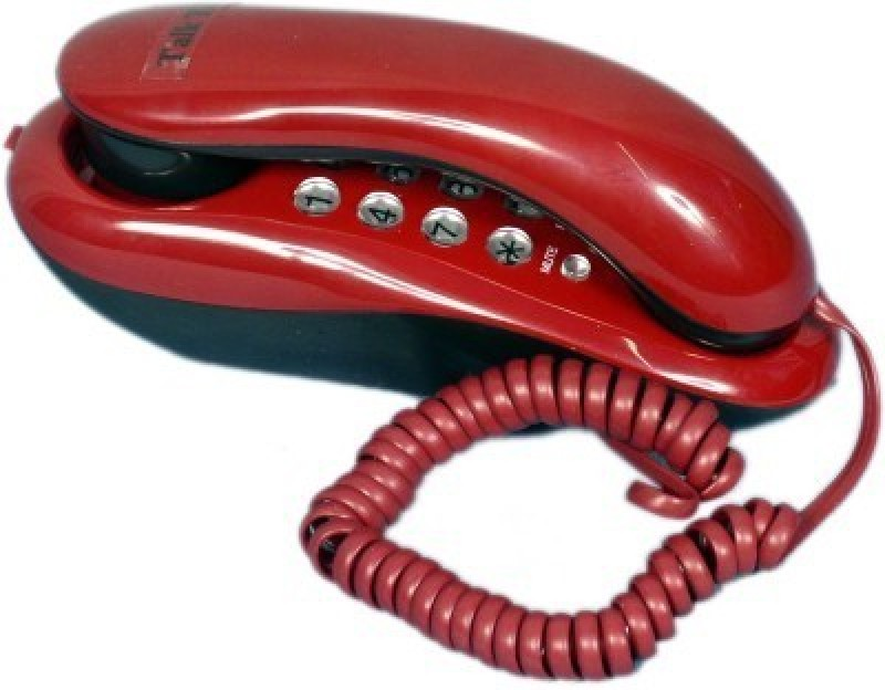 Italish KX-T333 Landline Telephone Corded Landline Phone(Red)
