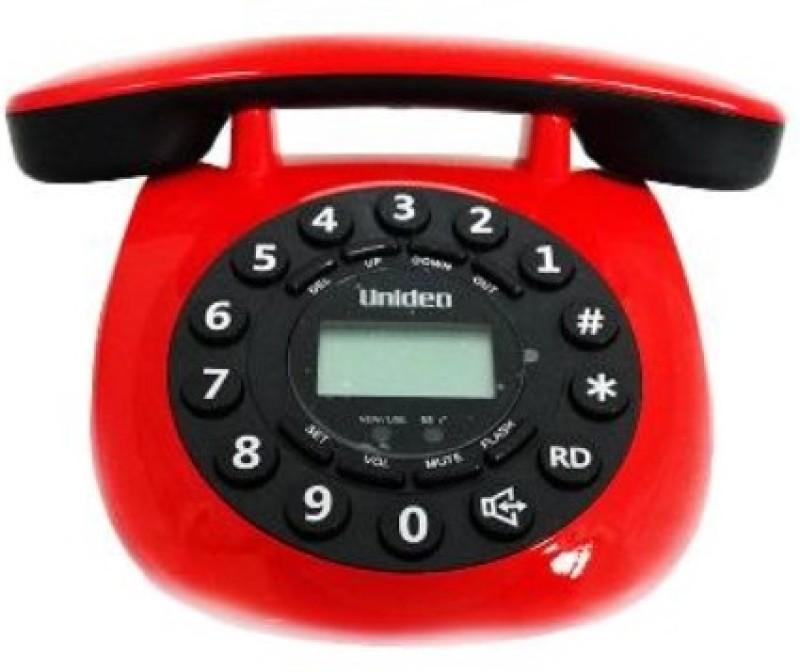 Uniden AT8601 Cordless Landline Phone(Red)