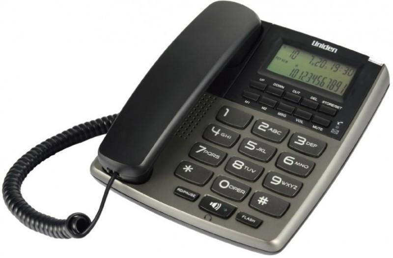 Uniden AS 7402 Corded Landline Phone(Titanium)