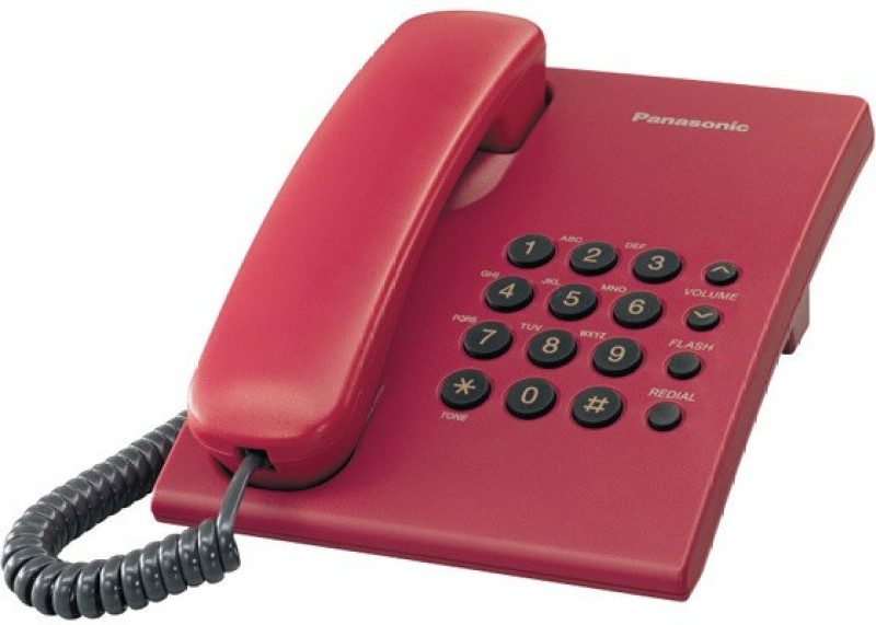 Panasonic KX-TS500MXRD Corded Landline Phone(Red)