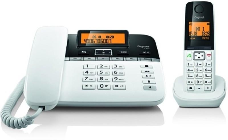 Gigaset C330 Corded & Cordless Landline Phone(White)