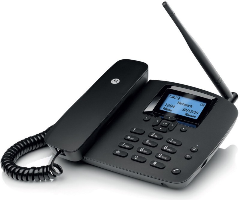 Motorola Fixed Corded Landline Phone(Black)