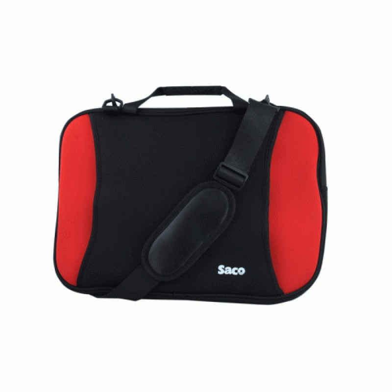 Saco 15.6 inch Expandable Sleeve/Slip Case(Black, Red) Shock Proof Slim Laptop Bag forToshiba Satellite C50A-E0110 Notebook