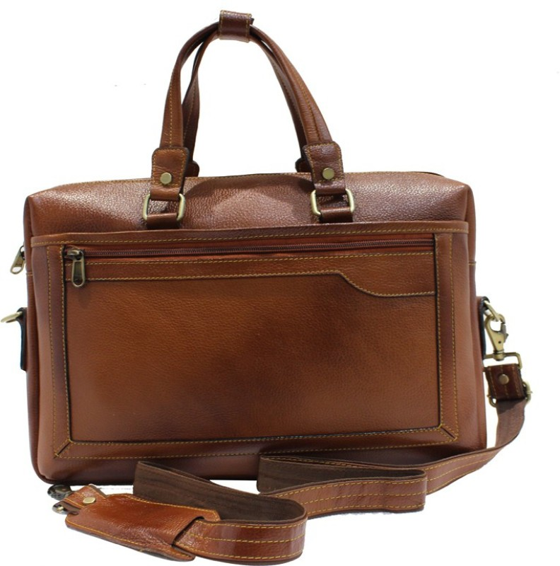 American-Elm 15 inch Expandable Laptop Messenger Bag(Brown) Office Bag