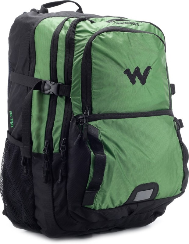 Wildcraft 14 inch Laptop Backpack(Black, Green) ida lime