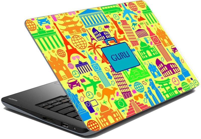 meSleep Abstract Travel - Guru Vinyl Laptop Decal 15.6 Abstract Travel - Guru