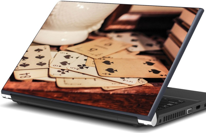Artifa Old playing cards on table Vinyl Laptop Decal 15.6