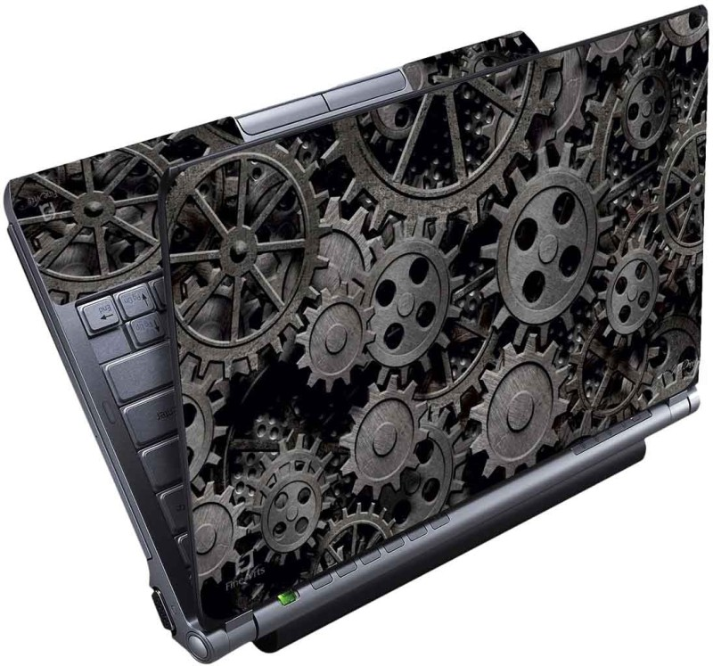 FineArts Gear Black Full Panel Vinyl Laptop Decal 15.6