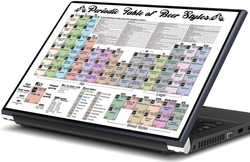 Artifa Periodic table of beer styles Vinyl Laptop Decal 15.6