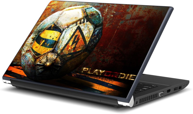 Artifa Play or Die Football Vinyl Laptop Decal 15.6