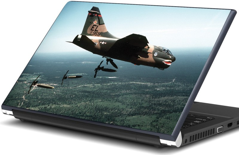 Artifa Fighter plane dropping missiles Vinyl Laptop Decal 15.6