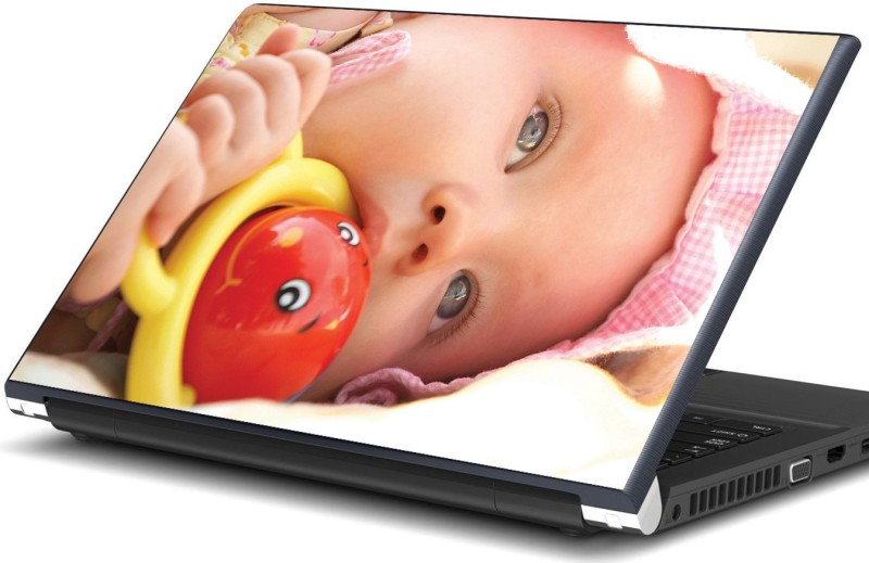 Artifa Baby playing with a toy Vinyl Laptop Decal 15.6