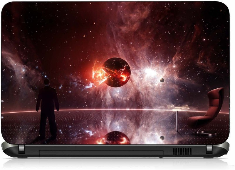 VI Collections WATCHING GALAXY IN OFFICE pvc Laptop Decal 15.6