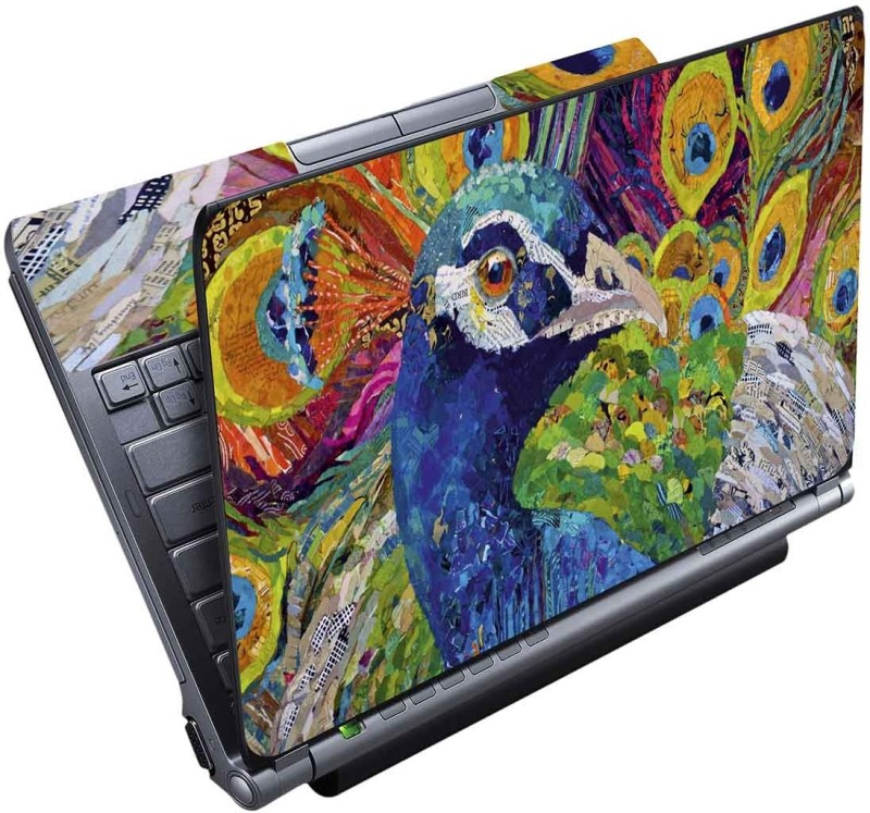 FineArts Peacock Painting Full Panel Vinyl Laptop Decal 15.6