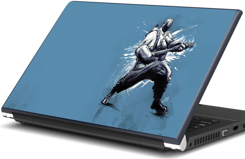 Artifa Man with mask playing guitar Vinyl Laptop Decal 15.6