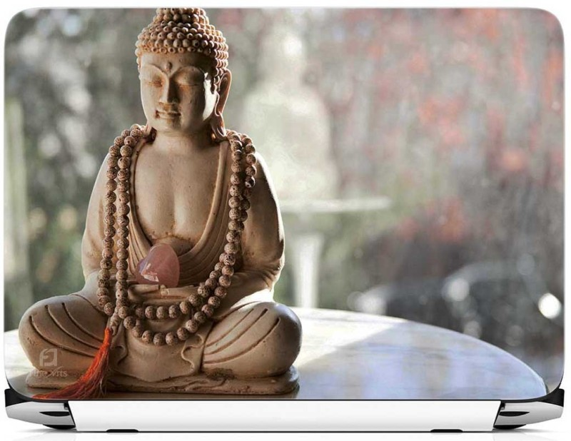 FineArts Buddha on Table Vinyl Laptop Decal 15.6