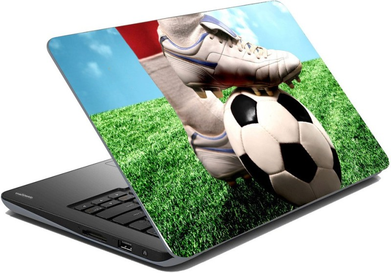 meSleep Lets Play Football Vinyl Laptop Decal 15.1