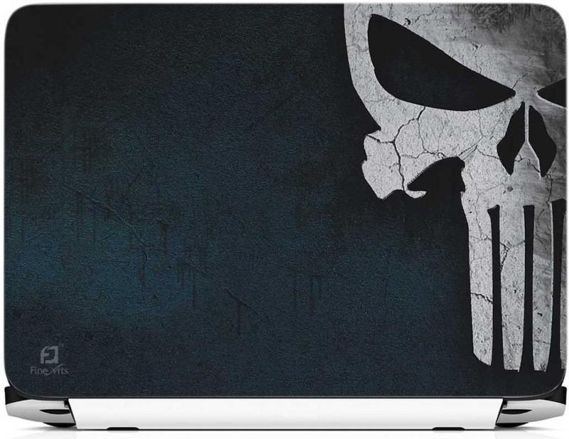 FineArts Skull Half Vinyl Laptop Decal 15.6
