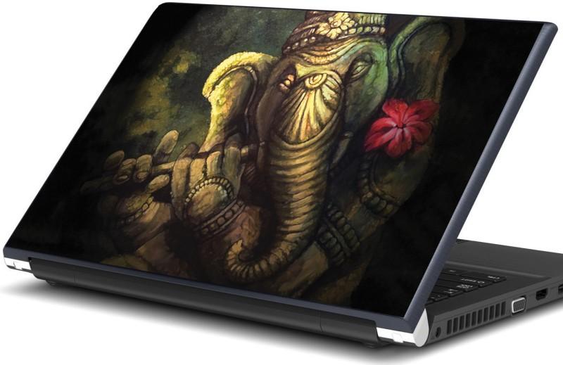 Artifa God Ganesha playing flute Vinyl Laptop Decal 15.6