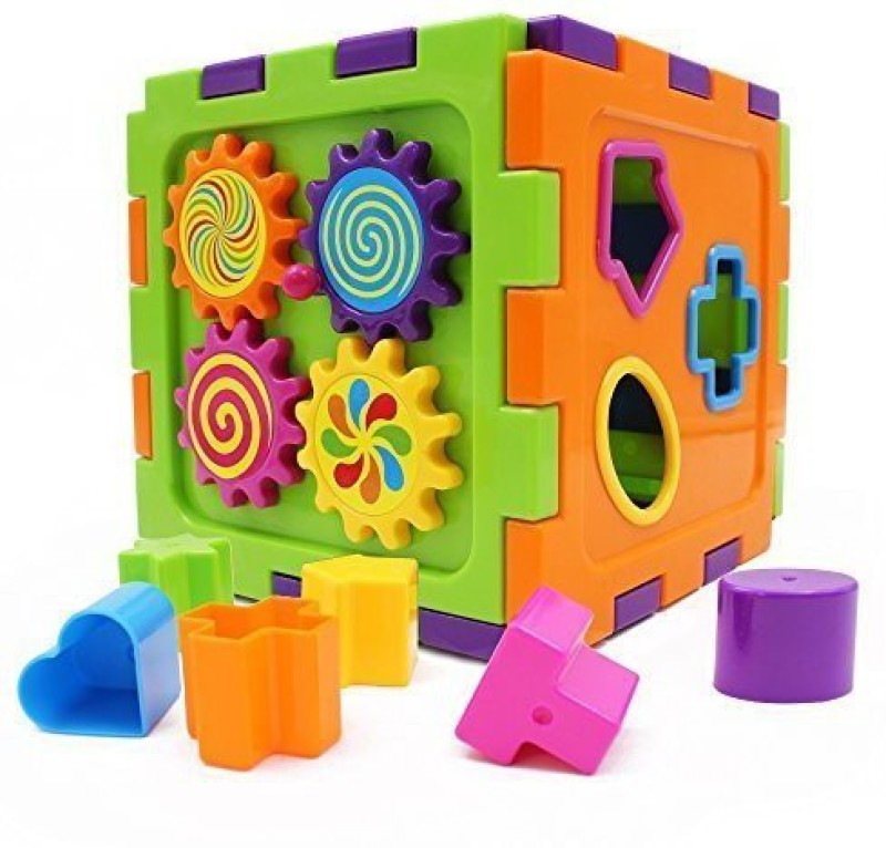 Wishtime Activity Gear Puzzle Baby S First Blocks Shape Sorting Cube(Multicolor)