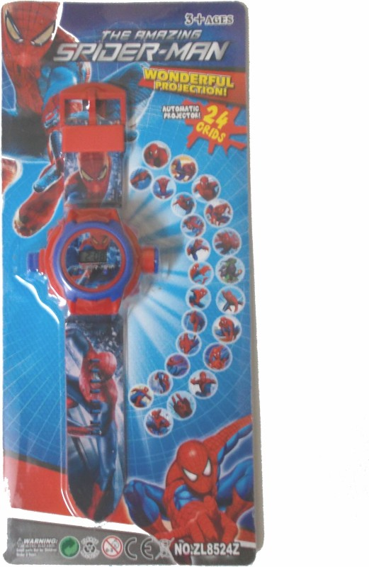 General Aux The Amazing Spiderman Projector Watch(Red)