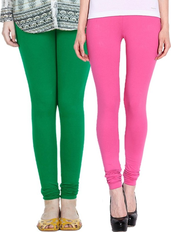 NGT Women's Pink, Dark Green Leggings