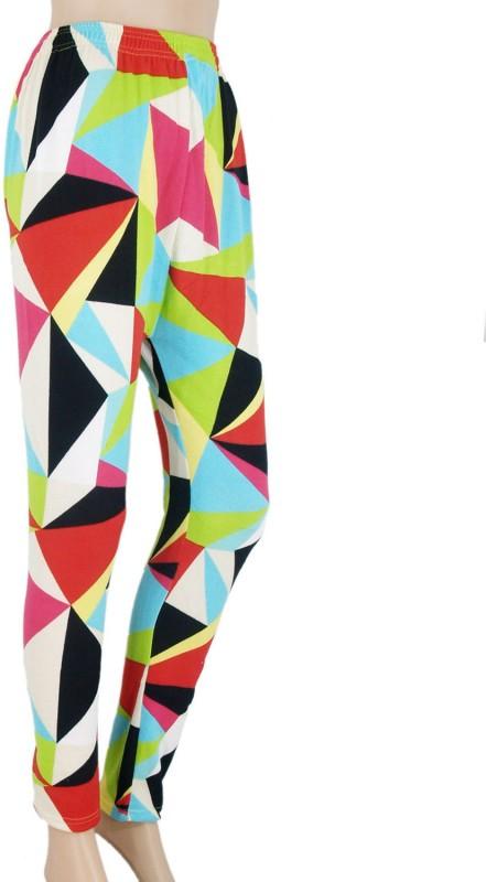 VR Designers Legging(Multicolor, Geometric Print)