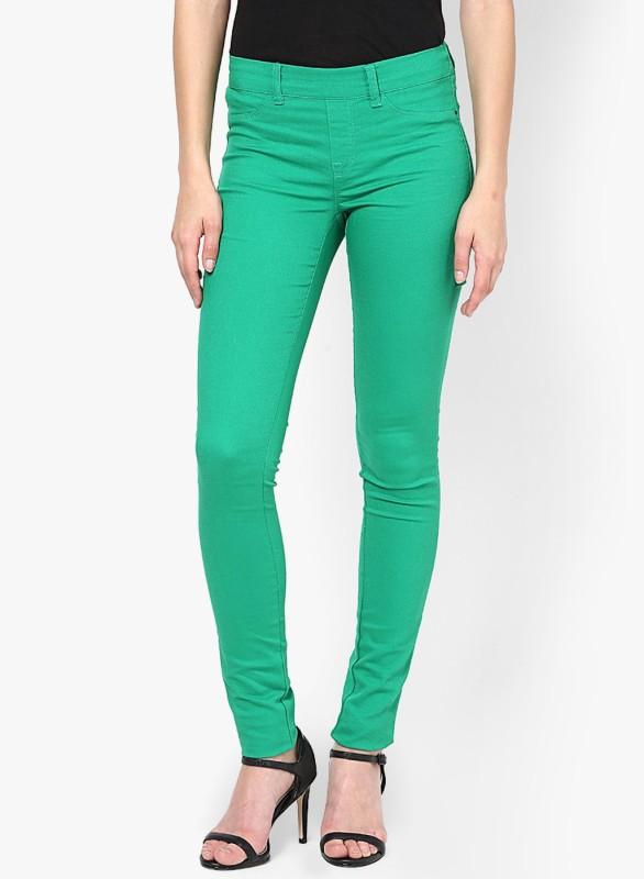 Vero Moda Women's Green Jeggings